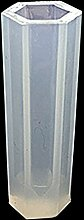 Kicode Kristall Siliconharz Anhänger Geometrische Ohrring-Halskette Schmuckherstellung Werkzeuge Mold Accs Fertigkeit DIY Weiß Transparen