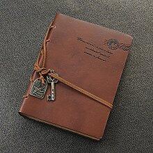 Kicode Lederbezug Klassisches Retro Blank Tagebuch
