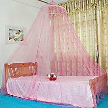 Kicode Runde Hoop Moskitonetzbett-Baldachin Für Kinder und Erwachsene (Rosa)