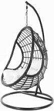 KIDEO Hängesessel PALMANOVA black, Swing Chair,