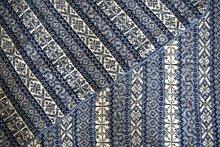 KIDKA 081 Wolldecke Schurwolle - Blau - 190 x 130 cm