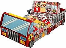 KidKraft 76031 Feuerwehrauto Kinderbett aus Holz