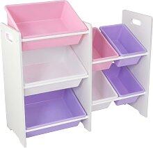 KidKraft Spielzeug-Regal mit 7 Kisten Pastell