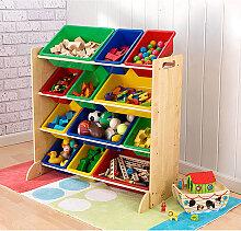 KidKraft - Spielzeugregal in Natur/ Bunt - (B)85 x