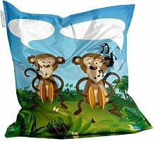 Kids Design Sitzsack von Showtex Speaking Monkeys bedruckt Kinder Affen