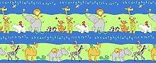 Kids Gardinen Set, süße Tieren, Blau