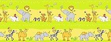 Kids Gardinen Set, süße Tieren, Grün