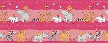 Kids Gardinen Set, Süße Tieren, Rosa