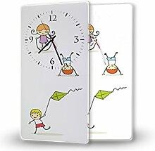 Kids - Lautlose Wanduhr mit Fotodruck auf