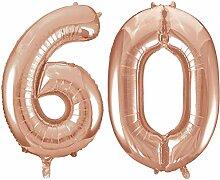 Kids Party World Folien Ballon Zahl 60 in Rosegold