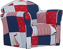 Kidsaw Mini-Sessel (blau Patchwork)