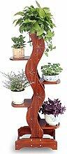 Kiefer Holz Blume Regal 5-Schicht Blumenständer