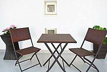 Kiefergarden Restoset Set 2 Stühle und Gartentisch