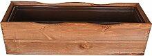 Kiefernholz Blumenkasten mit Kunstoffeinsatz 44 cm