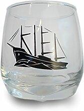 Kielschiff Whisky Whiskey Trink-Glas Kiel - Mit