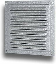 Kiemenblech L/üftungsgitter Wetterschutzgitter Metall wei/ß Gr/ö/ße 200x200mm