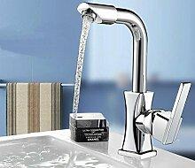 KIEYY Das Kupfer Wasserhahn Küche Wasserhahn WC-Armatur heiße Becken Wasserhahn kann der Wasserhahn drehen
