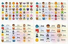 Kigima 114 Aufkleber Sticker Namens-Etiketten