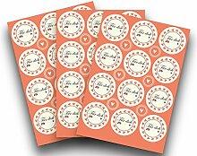 Kigima 36 edle Aufkleber Sticker Klebe-Etiketten