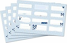 Kigima 48 edle Aufkleber Sticker Klebe-Etiketten