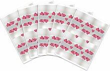 Kigima 60 edle Aufkleber Sticker Klebe-Etiketten