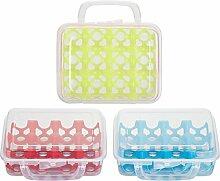 Kigima Eierbox für 12 Eier transparent mit bunten