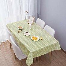 kigins Tischdecke aus Baumwollleinen, kariert