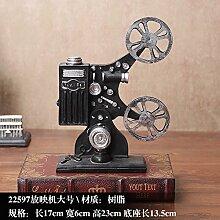 KIKIXI American Retro Soft Dekoration Kreative Modell Dekoration Wohnzimmer Cabinet Office Möbel Schreibmaschine Heimtextilien Geschenk, Projektor Größe