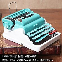KIKIXI American Retro Soft Dekoration Kreative Modell Dekoration Wohnzimmer Cabinet Office Möbel Schreibmaschine Heimtextilien Geschenk, Schreibmaschine