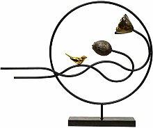 KIKIXI Chinesische Moderne TV-Schrank Schmuck basteln Wohnzimmer Dekoration Sinne Iron Bird Lotus Ornamente
