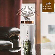 KIKIXI Neue chinesische Hand-Painted Keramik Vase Blumenschmuck Zimmer Eingang TV-Schrank kreativer Blumenschmuck, Groß