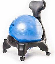Kikka Active Chair blau - Stuhl mit Gymnastikball