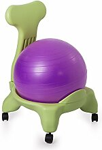 Kikka Active Chair (green frame - purple ball) - ergonomic chair with exercise ball by Kikka