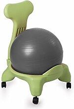 Kikka Active Chair (grünen Rahmen–Gray Ball)–Ergonomische Stuhl mit Gymnastikball