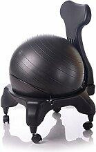 Kikka Active Chair schwarz - Stuhl mit Gymnastikball