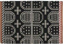 Kilim Tasili Teppich, rot weiß schwarz Größe 1