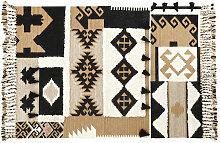 Kilim-Teppich aus Wolle und Baumwolle 140x200