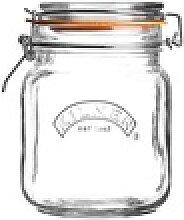 KILNER Bügelverschlussglas eckig 1,0 Liter
