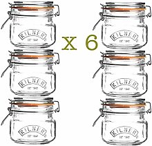 Kilner Jars Glas 0,5 l. mit Clip Top Verschluß