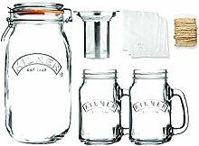 Kilner Kaltbrüh-Kaffee-Set, 2 Liter, 2 Gläsern
