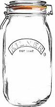 KILNER Rundes Bügelverschluss Glas, 2 Liter