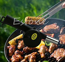 Kimruida BBQ Fan Luftgebläse Hand Crank Powered