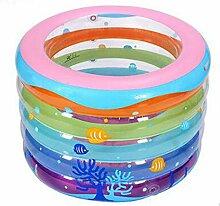 Kind Bunte Runde Aufblasbare Badewanne Baby Aufblasbare Pool Dicker Schwimmbad Faltbare Ozean Ball Pool Paddling Pool Wasser Spielplatz