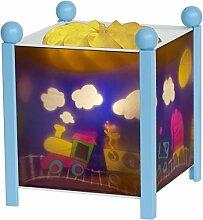 Kind Junge Jungs Magische Rotierende Kindergarten Glühen Nachtlicht Lampe Laterne von Trousselier in einem Blauen Rahmen - Zug