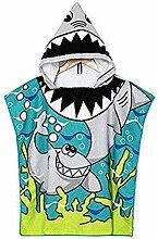 Kind Poncho Handtuch für Strand Schwimmen Bad