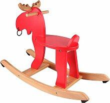 Kind Schaukelpferdkitz Massivholz Rocker Spielzeug
