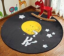 Kind Teppich / Wohnzimmer Bedside Bedside Teppich / Computer Stuhl Cartoon Round Verdickte Teppich ( Farbe : 4# , größe : Diameter 140cm )
