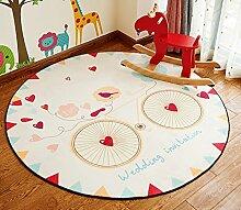 Kind Teppich / Wohnzimmer Bedside Bedside Teppich / Computer Stuhl Cartoon Round Verdickte Teppich ( Farbe : 1# , größe : Diameter 80cm )