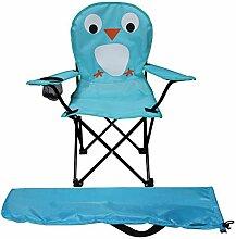 Kinder Anglersessel Blau Campingstuhl Faltstuhl