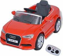Kinder-Aufsitzauto mit Fernbedienung Audi A3 Rot -